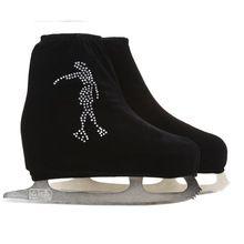 24 Colores para Niños de Terciopelo Adultos Zapatos de Patinaje Sobre Hielo Patinaje Artístico Cubierta Del Patín de ruedas Accesorios de Tela Blanco Skater 3 Rhinestone(China (Mainland))