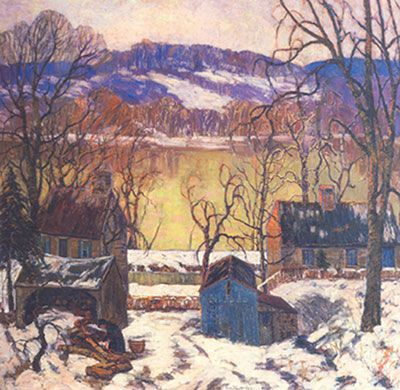 Fern I. Coppedge, Afterglow on the Delaware Fine Art Reproduction Oil Painting