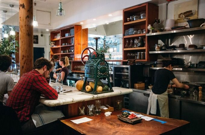 Bar Tartine counter. Photo by @irenekly