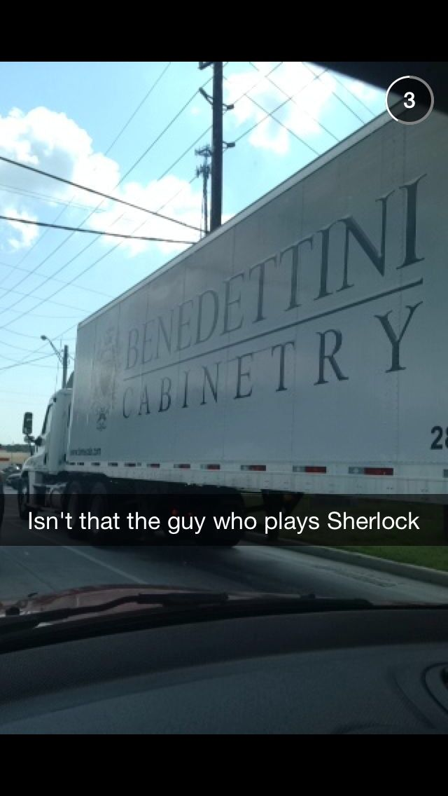 Hahaha!! Benedict Cumberbatch.  Every time I try to say that name I know I am pronouncing it wrong.