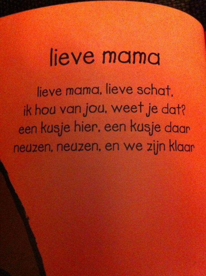 Versje: lieve mama