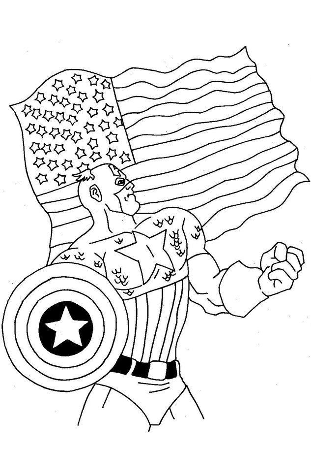 8 best Captain America images on Pinterest   Malvorlagen, Malbücher ...