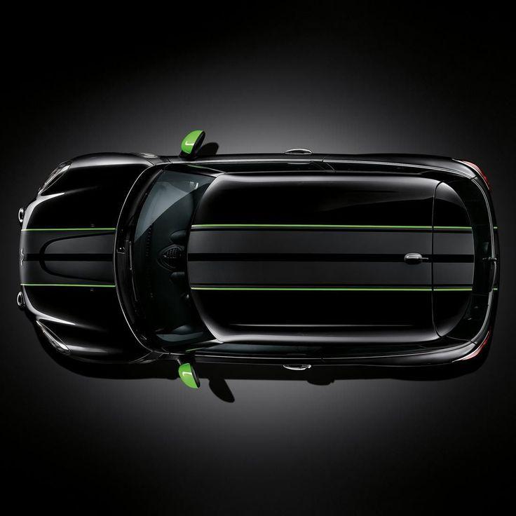 Mini Cooper Countryman Black Alien Green Ray Sport Side Stripes New | eBay