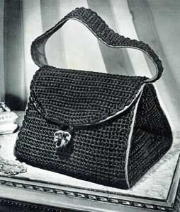Crochet Bag No. 2793, pattern originally published by Clark's O.N.T. J Coats as Bags, Book 228.