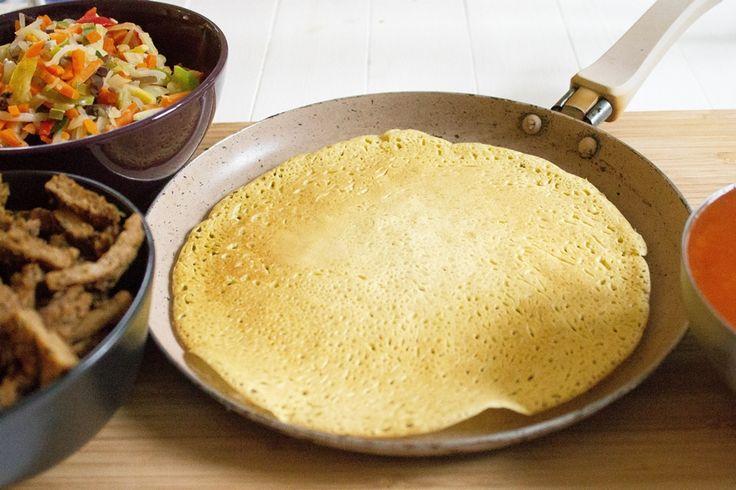 Naleśniki z mąki jaglanej - z siemieniem lnianym, bez jajek.