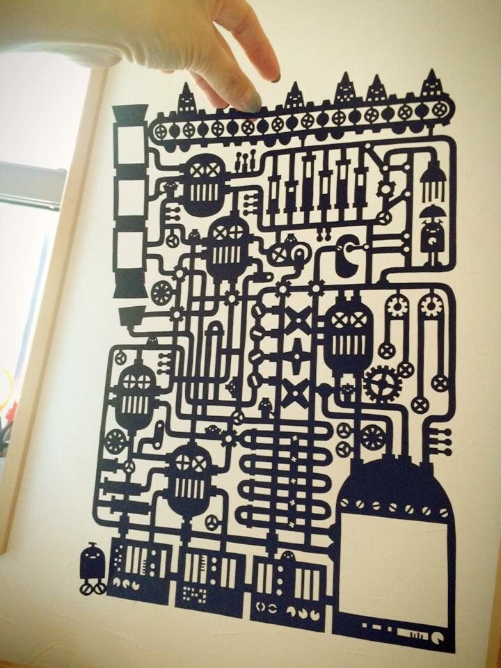 Paper cutting by chihiro takeuchi.