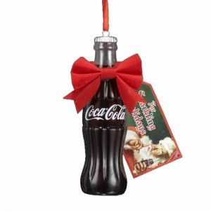 4.5″ Coca-Cola Bottle with Gift Tag Christmas Ornament