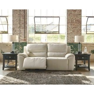 Marvelous Shop for Signature Design by Ashley Valeton Cream Seat Reclining Power Sofa Get free