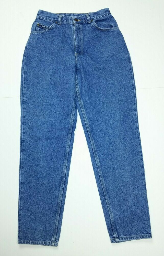 32f44eb12e2 Lee Women s Size 10 Medium Jeans Vintage High Waist Mom Tapered Denim  Cotton  Lee