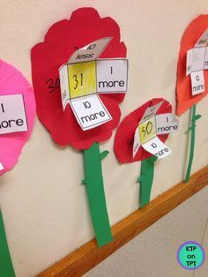Number sense activities and freebie for teaching 10 more/10 less and 1more/1less.