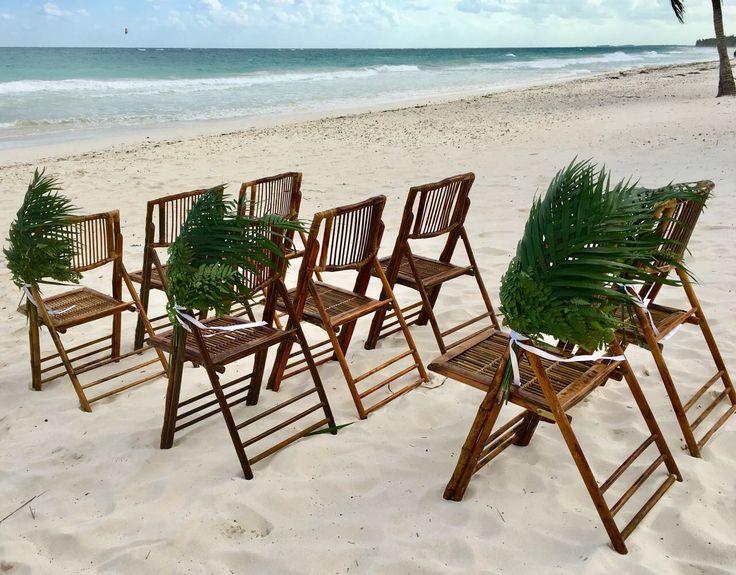 CBD230 wedding Riviera Maya palma corsage for aisle/ corsage de palmas para Camino de ceremonia