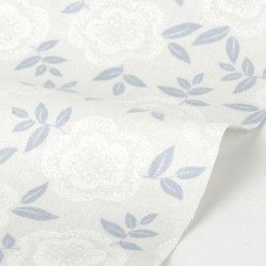 Snow Flower Grey Blue- 100% cotton