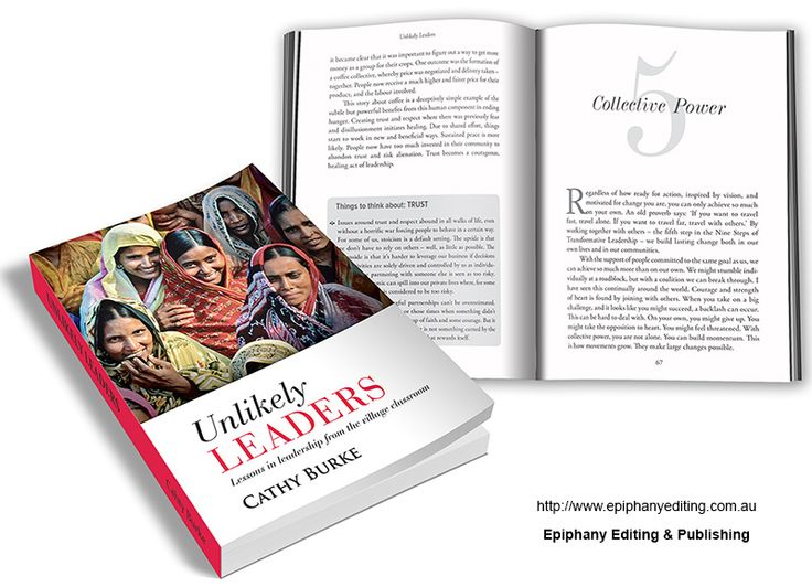 Book design for 'Unlikely Leaders'. Visit http://www.epiphanyediting.com.au for more examples of book design #bookdesign #selfpublishing
