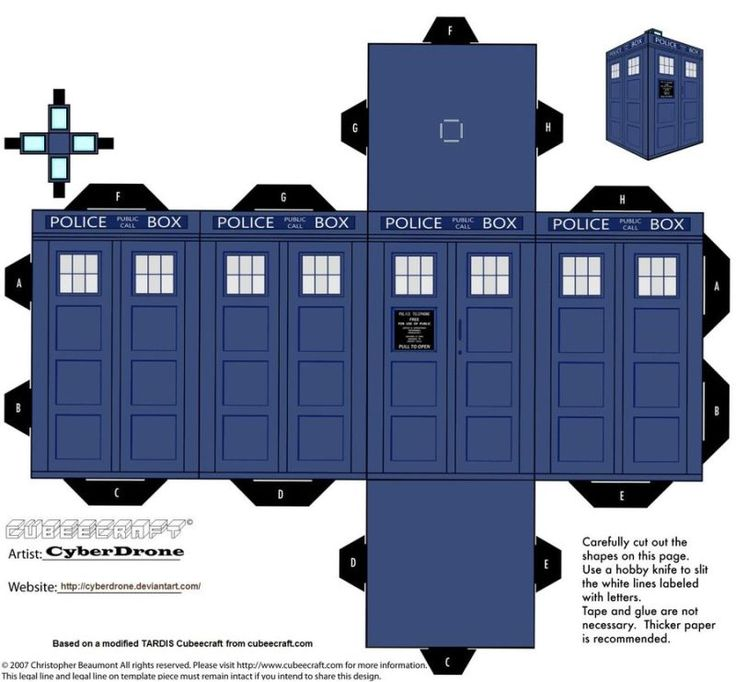 Print out and fold your own paper TARDIS and Daleks