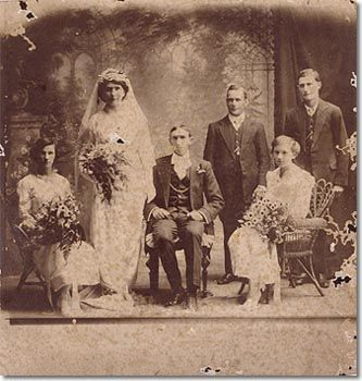 Wedding of Ada and James Wiseman, Goulburn. Wedding of Ada and James Wiseman, Goulburn  Photograph, 1913  (MPG/143)   James was an itinerant shearer and Ada was a barmaid at the Bridge Hotel in Goulburn. This is the only surviving photograph of their wedding day on 17 December 1913. With the letter James wrote to Ada before the wedding