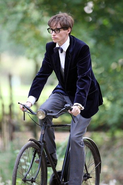 Eddie Redmayne takes the guise of a young Stephen Hawking on the Cambridge set of a new biopic about the scientist's life, named The Theory of Everything: The Story of Stephen Hawking