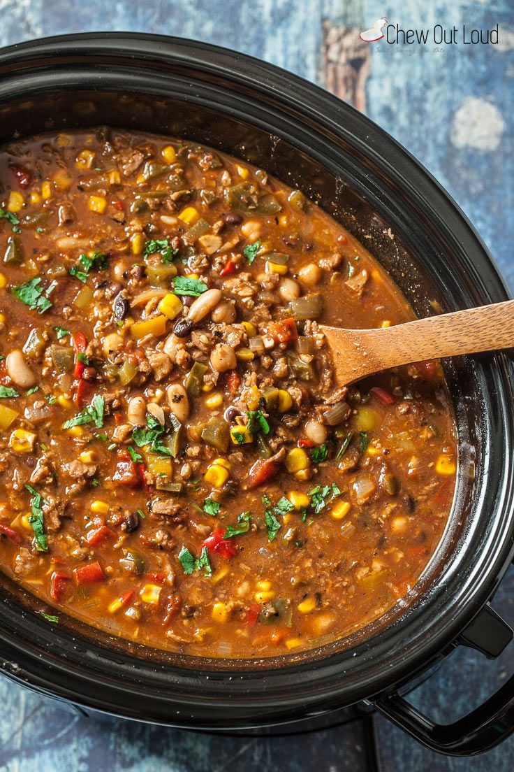 The Best Vegetarian Chili Slow Cooker Or Stovetop Chew Out Loud Recipe Slow Cooker Vegetarian Chili Vegetarian Chili Recipe Slow Cooker Vegetarian