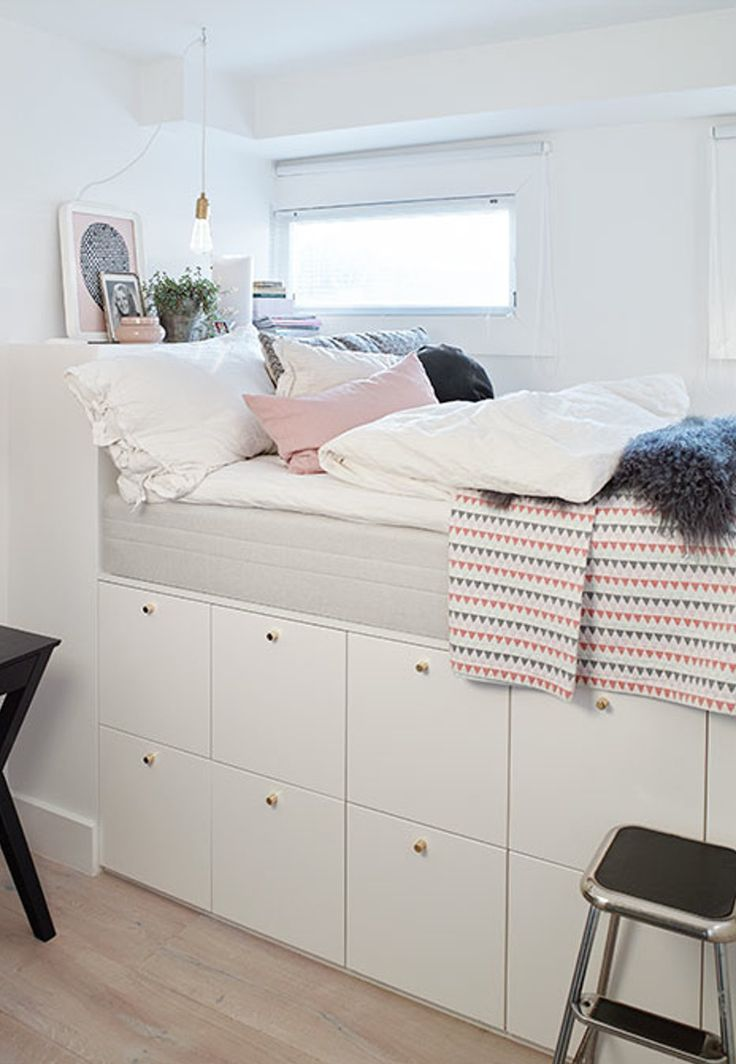 I like the idea of building up the headboard and putting pillows to sit and a slide