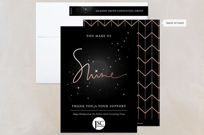137 best holiday corporate business images on pinterest you make us shine midnight business holiday cards by fatfatin at minted reheart Image collections