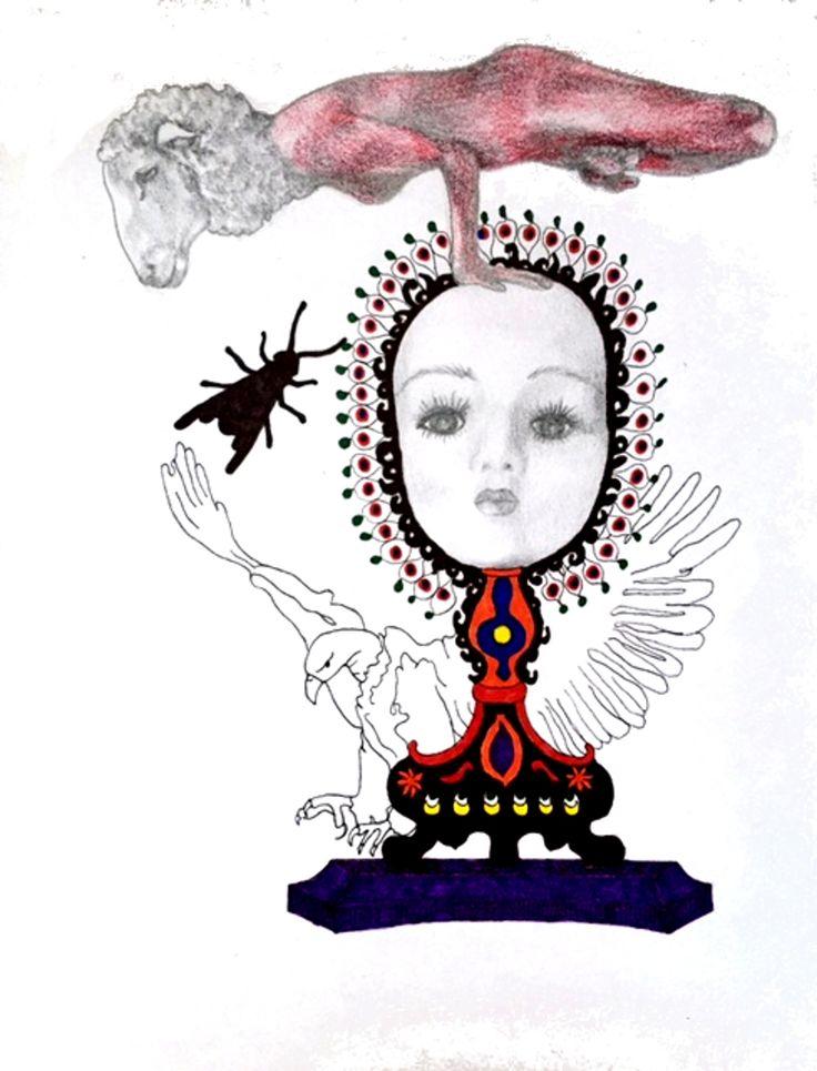 Yoga Sheep by Carlotta Carzaniga