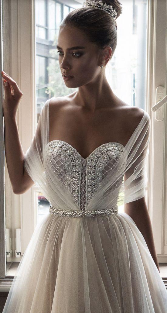Featured Dress: Elihav Sasson; Wedding dress idea.