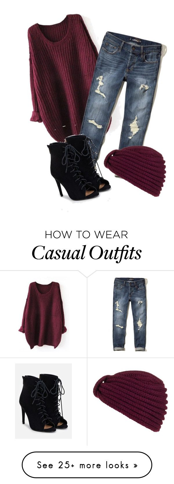 """""""casual"""" by candynena228 on Polyvore featuring Hollister Co., Rosie Sugden and JustFab"""