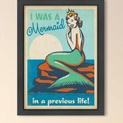 Mermaid Queen by Anderson Design Group Framed Vintage Advertisement