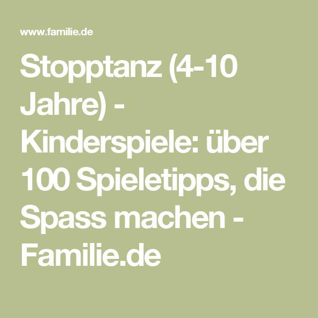 Stopptanz (4-10 Jahre) - Kinderspiele: über 100 Spieletipps, die Spass machen - Familie.de