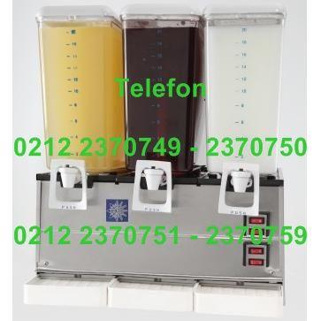 Üçlü Limonata Ayran Makinası ASLA60:20 şer litreden üç ayrı kavanozu olan bu limonata ayran meyve suyu soğutma makinasında aynı anda 20 lt. şerbet soğutma 20 litre ayran soğutma ve 20 lt meyve suyu soğutabilirsiniz.Üçlü limonata makinası limonata-meyve suyunu fışkırtarak ayranı ise mıknatıslı çalkalama paletiyle karıştırarak soğutur - Ucuz fiyatlı kaliteli üçlü limonata ayran meyve suyu soğutma makinası satışı 0212 2370750…
