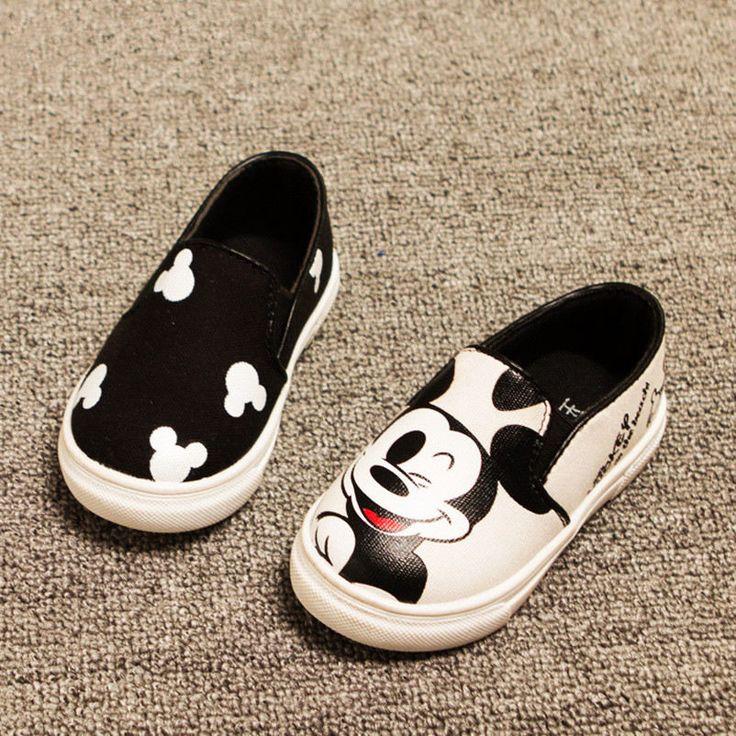 2017 primavera/estate 3 colori ragazzi delle neonate del fumetto del anime mickey ciao gattino bambini scarpe da ginnastica bambini tela piatto scarpe casual shoes
