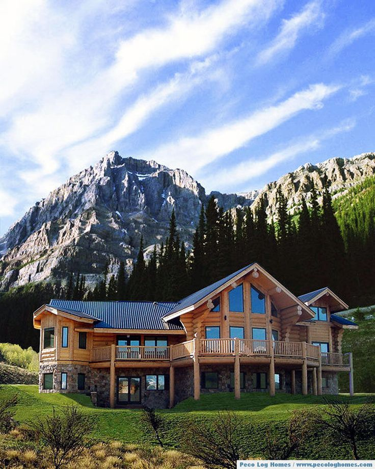 Luxury Lake Homes On Mountain: 534 Best Images About Log Homes On Pinterest