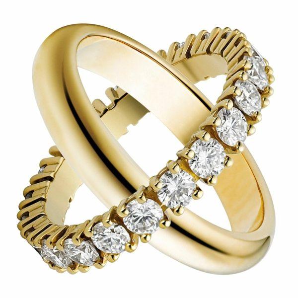 diamantring verlobung hochzeitsantrag ideen verlobungsring gold