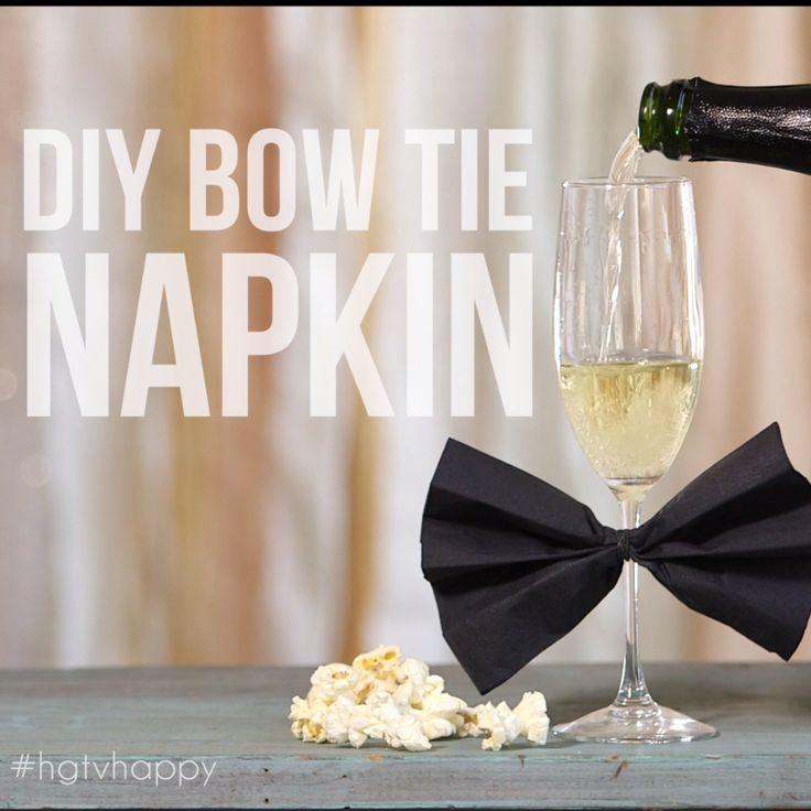 DIY Bow Tie Napkin