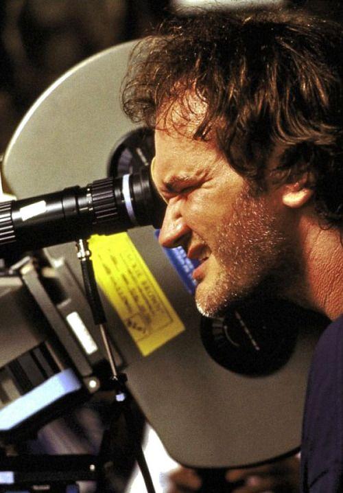 Quentin Tarantino filming Jackie Brown