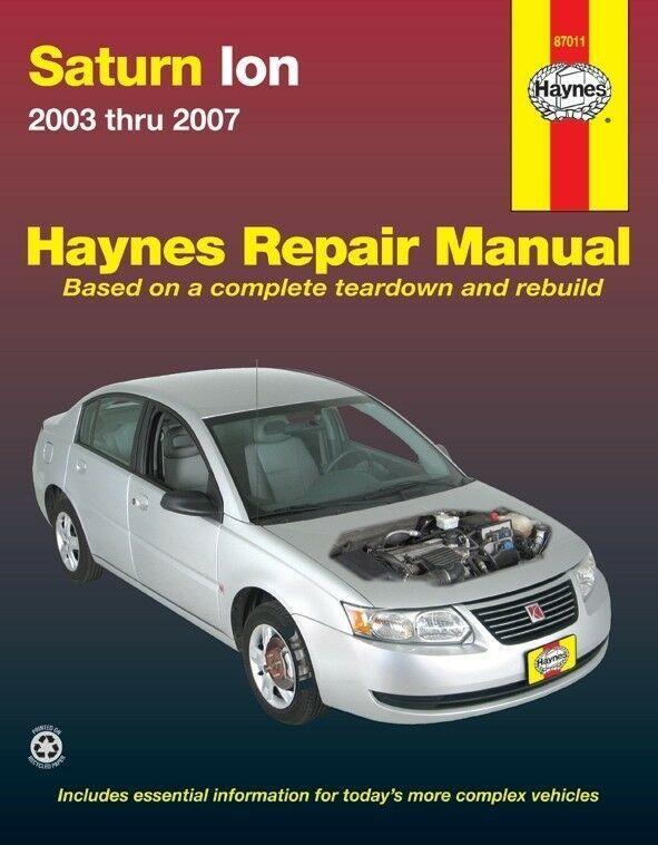 Advertisement Ebay Repair Manual 1 Haynes 87011 Fits 03 04 Saturn Ion Repair Manuals Chevrolet Venture