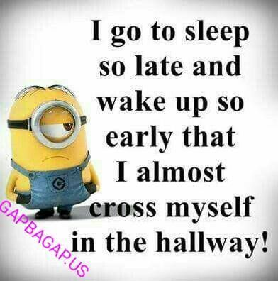 Funny Minion Quote About Sleep... - Funny, Funny Minion Quote, funny minion quotes, Minion, quote, Sleep - Minion-Quotes.com