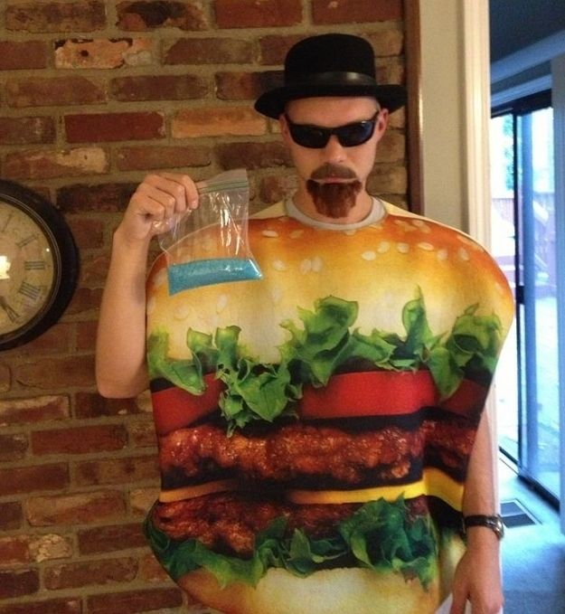 I see your French Kiss and I raise you the Heisenburger! French - mens homemade halloween costume ideas