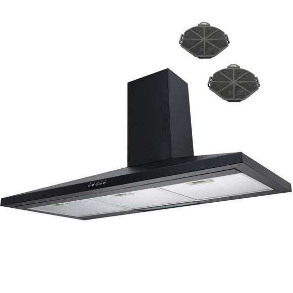 SIA CH101BL 100cm Chimney Cooker Hood Kitchen Extractor Fan + Filters