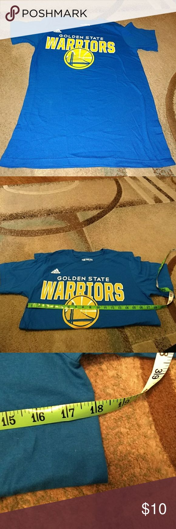 Adidas Golden State Warriors T-shirt, S You are purchasing a Adidas  Golden State Warriors T-shirt, small. Adidas Shirts Tees - Short Sleeve