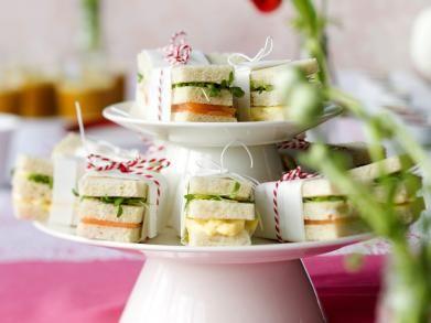 Sandwiches met eiersalade en gerookte zalm - Libelle Lekker !