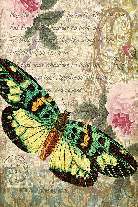 Butterfly Kisses-B Digital Art / Jean Plout