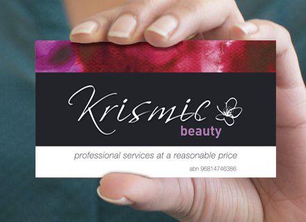 Krismic Beauty - logo & stationary created by RIS Designs www.risdesigns.com.au