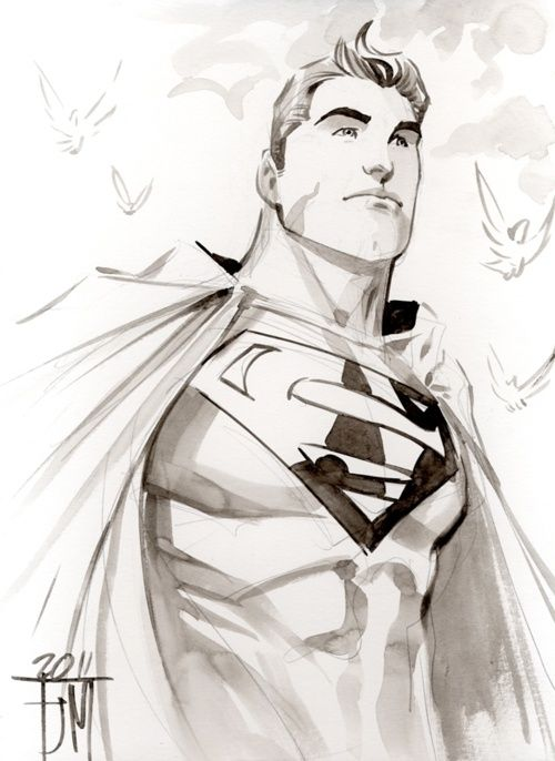 how to draw superman man of steel