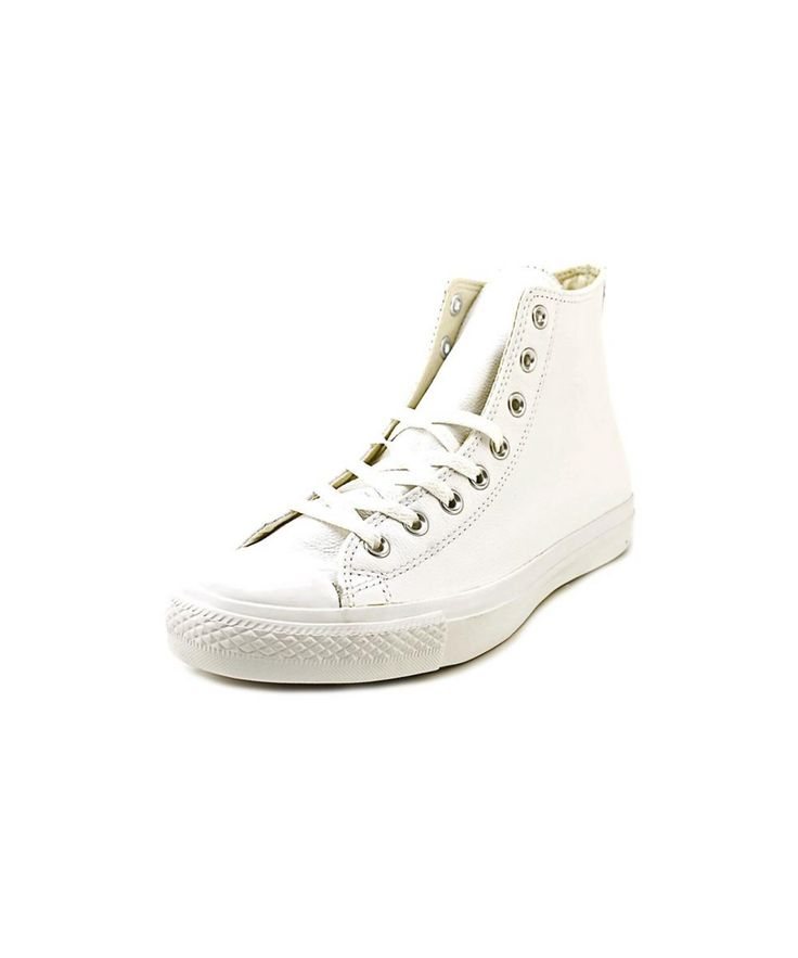 CONVERSE CONVERSE CHUCK TAYLOR ALL STAR LEATHER HI MEN ROUND TOE LEATHER WHITE SNEAKERS'. #converse #shoes #sneakers