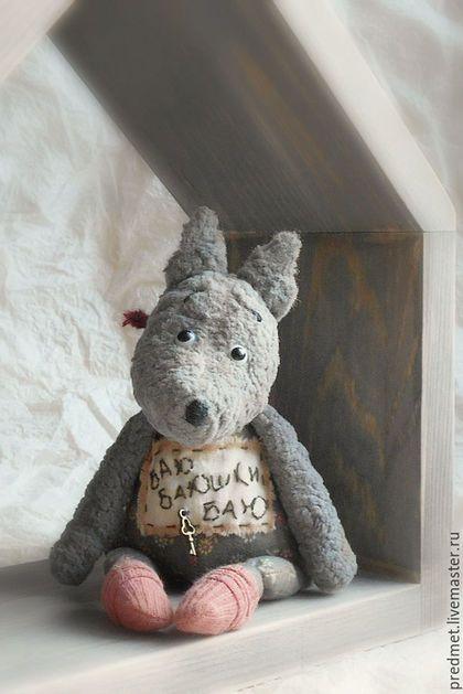 Коллекционные куклы ручной работы. Ярмарка Мастеров - ручная работа. Купить Серенький волчок. Handmade. Серый, волк из плюша, пастель