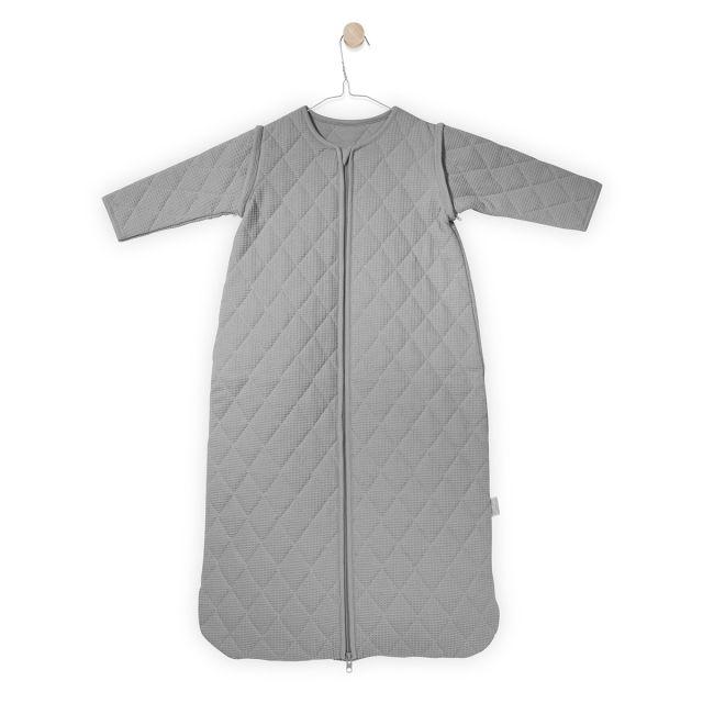 Jollein Śpiworek do spania mini waffle z odpinanymi rękawami  jasny szary 18-36 miesięcy