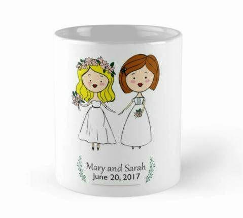 taza personalizada, Regalo de boda, tazas boda,regalo taza, boda lesbianas,detalles boda,regalos de boda, decoracion boda, tazas decorativas