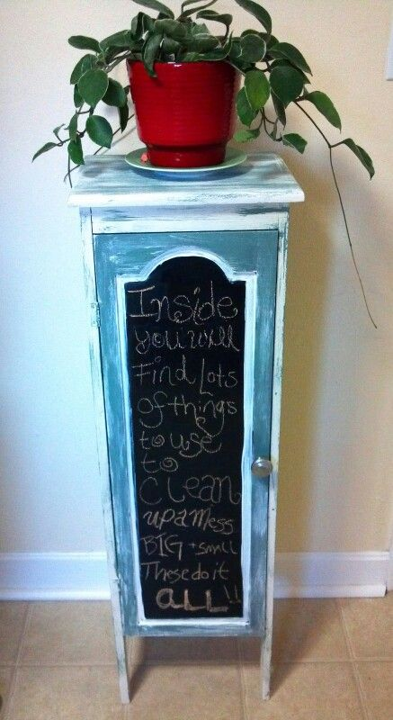 Kitchen Cabinets Painted With Chalkboard Paint