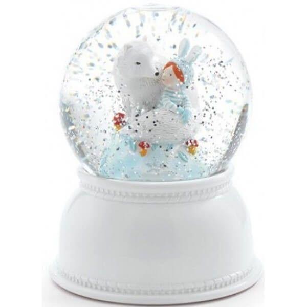 Betoverend nachlampje en sneeuwbol lila & pupi van Djeco