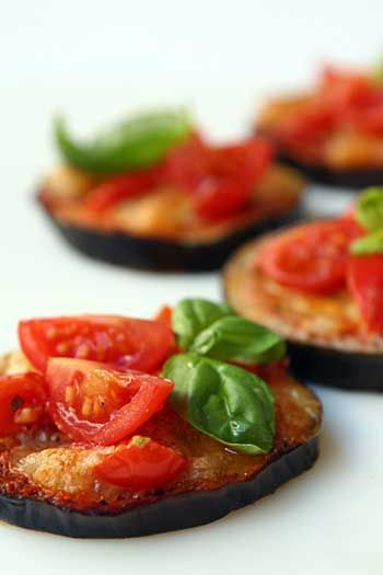 Aubergine pizzette - A good and light alternative to the classical pizza #food